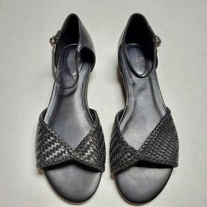 Bandolino Kendric Woven Black Sandal Sz. 9